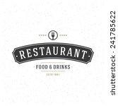 retro vintage insignia or... | Shutterstock .eps vector #241785622