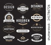 retro vintage insignias or... | Shutterstock .eps vector #241786726