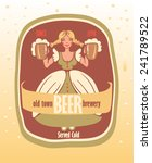 beer label with a young... | Shutterstock .eps vector #241789522