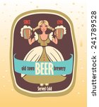beer label with a young... | Shutterstock .eps vector #241789528