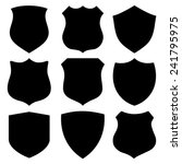 Collection Of 9 Black Shield...