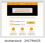 orange modern website template. ...