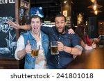 beer in a pub is fun portrait... | Shutterstock . vector #241801018