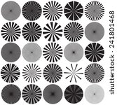 Vector Radial Pattern Graphic...