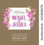 shabby chic printable marriage...   Shutterstock .eps vector #241806076