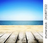 beach walking path near sand... | Shutterstock . vector #241807222