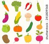 set of hand drawn  cartoon... | Shutterstock .eps vector #241809568