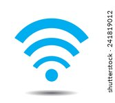 wi fi icon with shadow | Shutterstock .eps vector #241819012