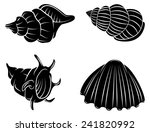 black silhouette collection of... | Shutterstock . vector #241820992