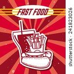 fast food   Shutterstock .eps vector #241823026