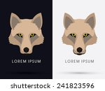 wolf  fox   head  face   logo ... | Shutterstock .eps vector #241823596