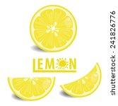 illustration lemon fruits on... | Shutterstock .eps vector #241826776