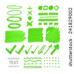 vector collection of... | Shutterstock .eps vector #241829002