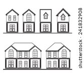 set of drawing houses flat... | Shutterstock .eps vector #241832908