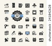 web icon collection   household ... | Shutterstock .eps vector #241842628