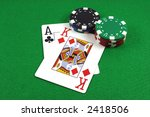 big slick   ace king with poker ... | Shutterstock . vector #2418506