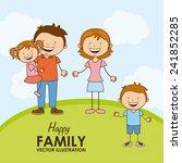 happy family | Shutterstock .eps vector #241852285