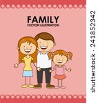 happy family | Shutterstock .eps vector #241852342