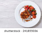fried piece of pork with... | Shutterstock . vector #241855036