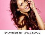 beautiful woman posing in... | Shutterstock . vector #241856932
