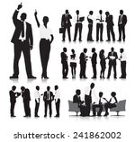 business people silhouette...