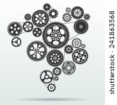 gear and cogwheel mechanism... | Shutterstock .eps vector #241863568