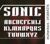 serif font bold geometric... | Shutterstock .eps vector #241864276