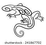 lizard tribal tattoo | Shutterstock .eps vector #241867702