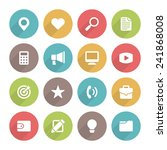 flat icons vector set and long... | Shutterstock .eps vector #241868008