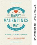 happy valentine's day greeting... | Shutterstock .eps vector #241870126
