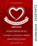happy valentines day party... | Shutterstock .eps vector #241870972