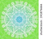 vector  rosettes pattern ... | Shutterstock .eps vector #241876666