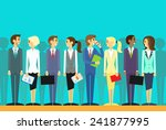 business people group human...   Shutterstock .eps vector #241877995