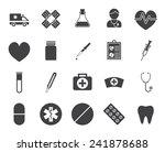 medical icons  modern flat... | Shutterstock .eps vector #241878688