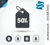 50  sale price tag sign icon.... | Shutterstock .eps vector #241887652