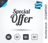 special offer sign icon. sale... | Shutterstock .eps vector #241889065