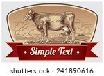 illustration graphic cow in a... | Shutterstock .eps vector #241890616