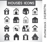 house  home icons | Shutterstock .eps vector #241890796
