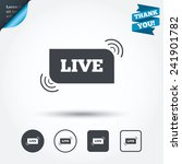 live sign icon. on air stream... | Shutterstock .eps vector #241901782