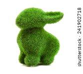Green Grass Easter Bunny Rabbit