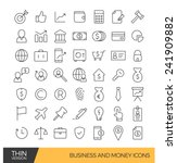 business and money thin line...   Shutterstock .eps vector #241909882