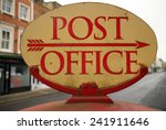 Vintage Post Office Sign In Th...