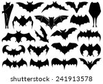 set of different bats isolated... | Shutterstock .eps vector #241913578