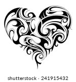 heart shape tattoo ornament | Shutterstock .eps vector #241915432