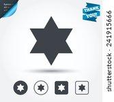 star of david sign icon. symbol ... | Shutterstock .eps vector #241915666