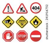 warning signs   danger  risk ... | Shutterstock .eps vector #241916752