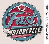 motorcycle typography  t shirt... | Shutterstock .eps vector #241920382