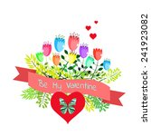 happy valentine s day card.... | Shutterstock .eps vector #241923082