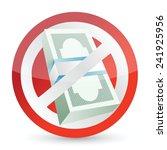 no cash allow symbol... | Shutterstock .eps vector #241925956