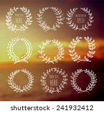circle floral borders on...   Shutterstock .eps vector #241932412